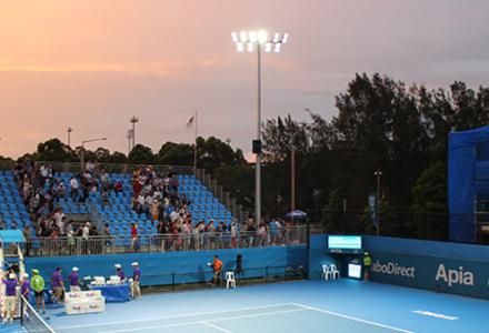 Ledex France installation Centre de Tennis du parc Olympique