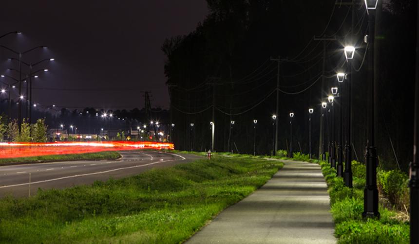PARIS réverbères led application routiers et urbains